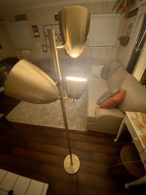 Floor/ standing lamp- aged brass, 3 lights for Sale in Manhattan Beach, CA