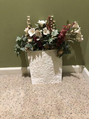 Flower decoration with vase for Sale in Manassas, VA