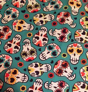 Hearts & Sugar Skulls Fabric for Sale in Bellflower, CA