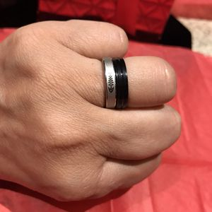 Beautiful Double ring wedding set for women Stainless steel Fashion fish Silver/Black Size 6 $7 for Sale in Avondale, AZ