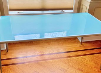 All-Purpose Tampered Glass worksurface, desk or table; Brand new for Sale in Demarest,  NJ