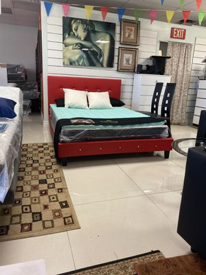 Queen size bed frame $249 brand new. mattress available for Sale in Fort Lauderdale, FL