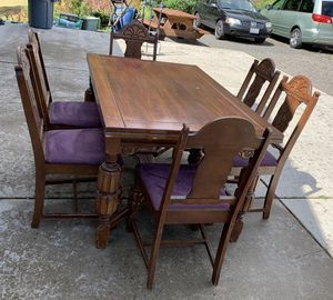 Antique Table & 6 Chairs for Sale in Kalama, WA