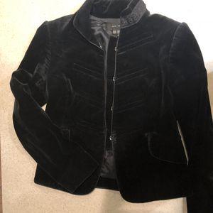 Zara velvet jacket, used for sale  navy blue for Sale