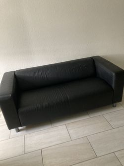 Black Leather Couch for Sale in Miami,  FL