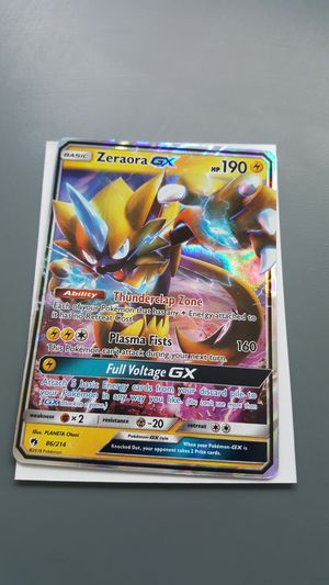 Zeraora GX Pokemon Card #2 for Sale in Phoenix, AZ