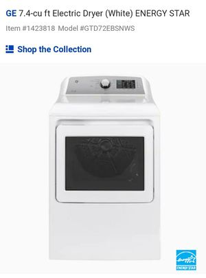 GE 7.4 cu. ft. Electric Dryer (White) ENERGY STAR (New) for Sale in Chesapeake, VA