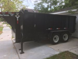 Gooseneck Dump trailer 14 ft Texas pride trailers for Sale in Houston, TX