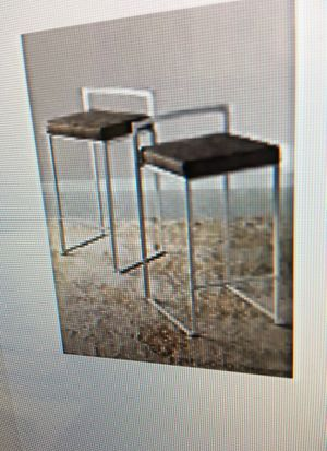 Bar stools velvet blue 2 in box never used 2 additional available. for Sale in Miami, FL