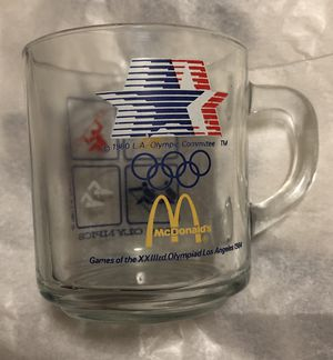 MCDONALD'S GLASS 1984 OLYMPICS COFFEE TEA MUG COLLECTIBLE OLYMPIC MEMORABILIA for Sale in Glenolden, PA