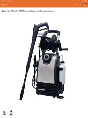 Beast 2000-PSI at 1.6 GPM Pressure Washer with Bonus Accessories for Sale in Phoenix, AZ