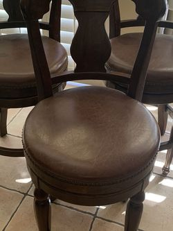3 Brown Leather Stools for Sale in Phoenix,  AZ