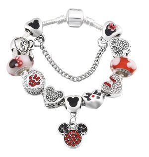 New Minnie Mouse bracelet European bracelet with charms for Sale in Hoboken, NJ