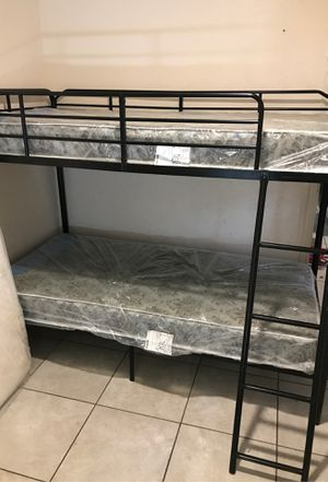 Twin bunk bed kids and full mattress for Sale in San Antonio, TX