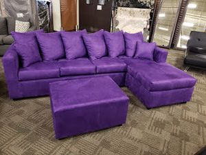 Sectional with ottoman! Made in AZ for Sale in Phoenix, AZ