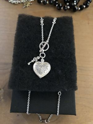Sterling silver necklace with simulated diamonds for Sale in Irving, TX