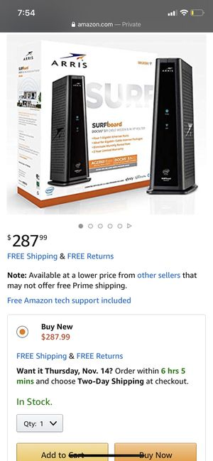 Cable modem/ WiFi router- Comcast compatible for Sale in Romeoville, IL