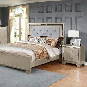 New /Bianca Metallic Gold Queen/King Bedroom Set | B590 $39 DOWN Payment for Sale in Arlington, VA