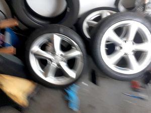 "17"" rims mercedes c230 originals and tires for Sale in Houston, TX"