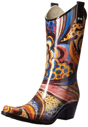 Stylish, Rubberized Turquoise Monet Rain Boots for Sale in Fort Lauderdale, FL