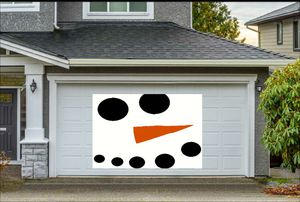 2019 holiday Christmas decor garage door decal snowman face for Sale in Longview, WA