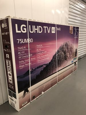 LG 75 INCH 4K THINQ 8 SERIES SMART TV! 3 month guarantee. Comes with legs and remote for Sale in Phoenix, AZ