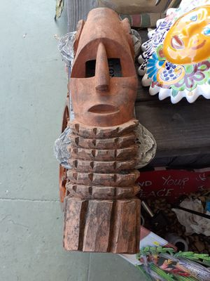 Carved wooden mask for Sale in Dunedin, FL