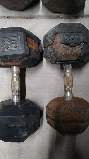 65 pound York dumbells for Sale in Modesto, CA