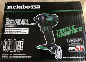 Metabo HPT brushless Hammer Drill and TRIPLE Hammer Impact Driver for Sale in Clovis, CA