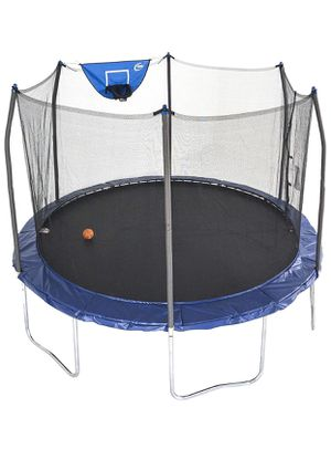 Skywalker Trampolines 12-Foot Jump N' Dunk Trampoline with Enclosure Net - Basketball Trampoline for Sale in Arlington, TX