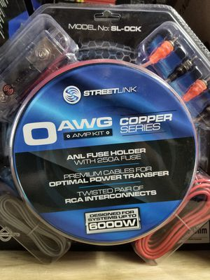 Brand New 0 gauge Street Link 100% Copper amp kit for Sale in Dallas, TX