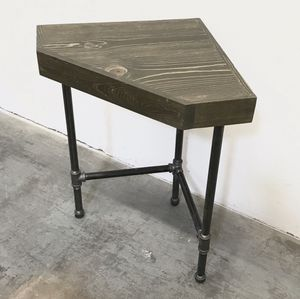 Corner Lamp Table Modern Rustic Farmhouse Accent Table Occasional for Sale in Payson, AZ
