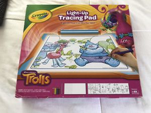 Crayola light up tracing pad trolls Arts and crafts drawing for Sale in Winter Haven, FL