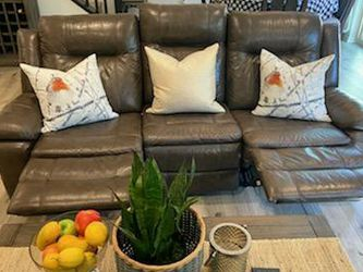 Recliner Leather Couch and Chair Set for Sale in Oceanside,  CA