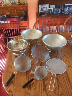 Group of Colanders and Strainers - $15.00 for all for Sale in St. Louis, MO