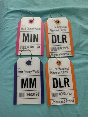 Disney Large Luggage Tags Baggage Tag Brand New heavy Duty lot of 4 for Sale in Doral, FL