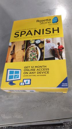 Rosetta Stone English and Spanish Lifetime Level 1-5 for Sale in Hollywood,  FL