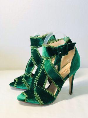 FSJ Size8 Brand New Green Velvet Stiletto Heels Sandals for Sale in Las Vegas, NV