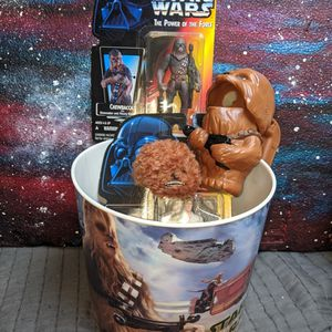 Star wars Action Figures Lot Chewbacca Han Solo Chewbacca Flashlight Chewbacca Plushie for Sale in Portland, OR