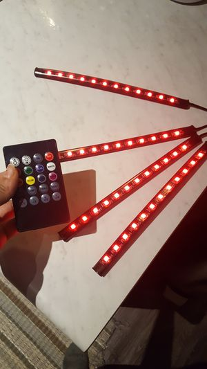 Led cars strip light with remote control included for Sale in Waukegan, IL