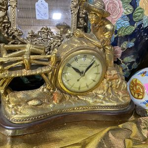 Antique Gold Style Table Clock for Sale in Pittsburgh, PA