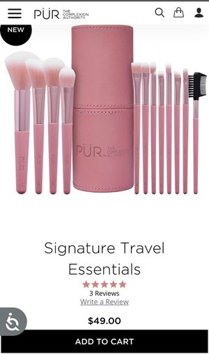 Pur cosmetics makeup brush set for Sale in Carson, CA