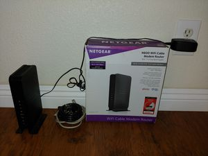 Netgear Wireless N600 Router + Cable Modem C3700-100NAS for Sale in San Diego, CA