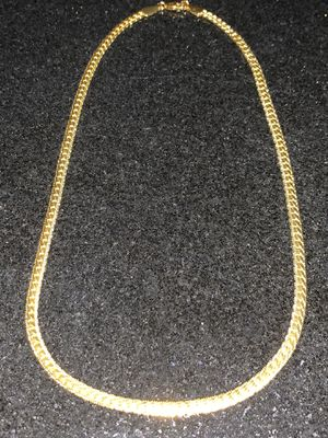"New 20"" Gold Plated 18K Mens/Women's Cuban Chain with diamond cuts for Sale in New York, NY"