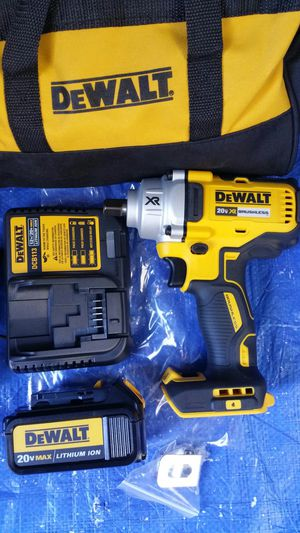 $250. DEWALT 20-VOLT XR 1/2-INCH DETENT PIN ANVIL IMPACT WRENCH with battery and charger for Sale in Evergreen, CO