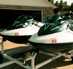 Pair (2)Seadoo GTX155 withTRAILER! for Sale in Portal, GA