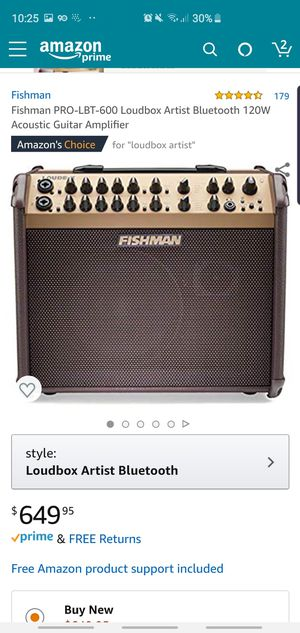 Fishman pro-lbt 600 loudbox artist 120w for Sale in Lynwood, CA