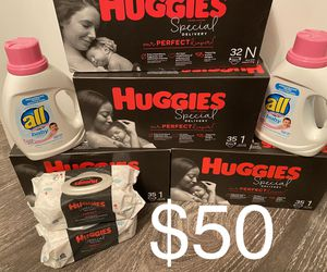 Huggies Special Delivery size NB/1 Bundle for Sale in Lawrenceville, GA
