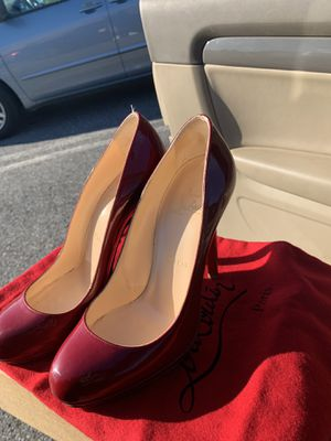 christian louboutin(red bottom heels) neofilo 120 patent rouge for Sale in Washington, DC