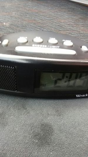 Westclox battery operated alarm clock for Sale in Portland, OR